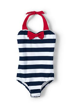 Girls One Piece with Bow from Lands' End