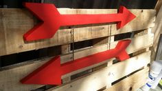 Arrow sign wooden sign wall sign reclaimed by SunflowerStampede