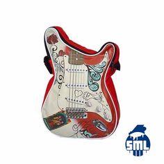 Malas com formato de corpo de guitarra, miniaturas de guitarras célebres, porta-chaves, porta-moedas e outras ideias para oferta originais, encontra no Salão Musical de Lisboa. Consulte o nosso site e faça as suas compras online.