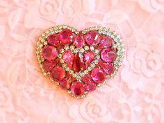 Heart Brooch... By Artist Unknown...
