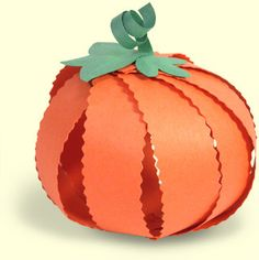 Preschool Crafts for Kids*: Halloween Paper Strip Pumpkin Craft