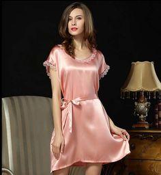Plus Size Silk Nightgowns Silk Nighties Silk Sleepwear for Women Silk Sleepwear, Sleepwear Women, Lingerie Sleepwear, Nightwear, Silk Pajamas, Belle Lingerie, Pink Lingerie, Pijamas Women, Nightgowns For Women