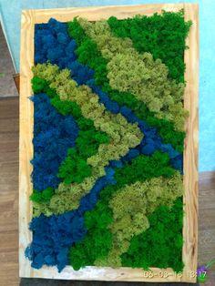 Moss Wall Art, Moss Art, Diy Crafts Hacks, Nature Crafts, Patio Design, Backyard, Wood, Flowers, Summer
