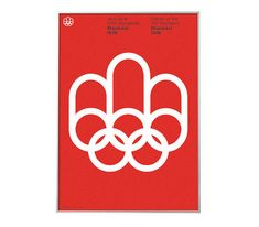 Inverted version of Montreal 1976 Olympics poster by BoldModern