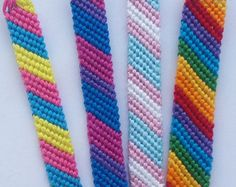 Handmade Gay pride flag, LGBT, Transgender, Bisexual, Pansexual friendship bracelet, Lesbian, Bi, Trans, Pan, Rainbow macrame bracelet, Hippie, boho. Bracelets are made of 100% cotton embroidery threads. Each bracelet has two braids that can be tied onto your wrist. Due to the long braids, the bracelet fits for every size and is perfect for everyday wear! :) If you would like to have different colors or your personalized one with your pattern, just let me know! Length: about 13 cm/5.1 ...