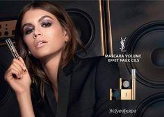 Kaia And Presley Gerber, Kaia Gerber, Ysl Beauty, Volume Mascara, Advertising Campaign, Yves Saint Laurent, Makeup, Fake Lashes, False Lashes
