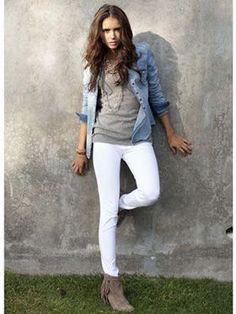 ホワイトデニム×シャツで大人の春の着こなしに♡ - NAVER まとめ