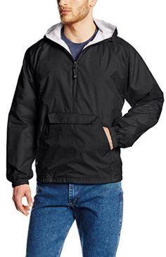 Men's Classic Black Windbreaker Jacket