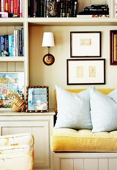 built-in day bed  Beth Blake and Corbin Day's Colorful Sag Harbor Escape