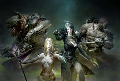 Guild wars 2 Concept art visualization by US based concept artist and illustrator by Ruan Jia. Guild Wars 2, Female Character Concept, Character Art, Character Design, Fantasy Illustration, Character Illustration, Paladin, Fantasy Girl, Dark Fantasy