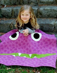Monster Quilt ~ How fun would these be.  get kids to design it themselves!