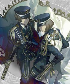 埋め込み Anime Military, Manga, Touken Ranbu, Samurai, Sword, Anime Couples, Anime Guys, Weapons, Otaku