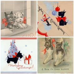 Scottie Dog cards by treasureup, via Flickr