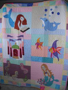 mermaid quilt fabric - Bing Images | mermaids | Pinterest ... : mermaid quilts - Adamdwight.com