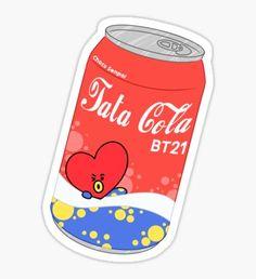 'Mang Sprite Sticker by ChocoSenpai Pop Stickers, Tumblr Stickers, Kawaii Stickers, Printable Stickers, Kawaii Drawings, Cute Drawings, V Wings, Bts Merch, Line Friends