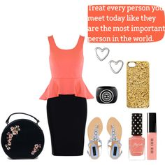 """treat every person you meet like they are the most important person in the world"" by grace-buerklin on Polyvore"