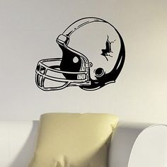 WALL DECAL VINYL STICKER GYM SPORT RUGBY AMERICAN FOOTBALL HELMET SB607