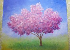 Impressionist Cherry Blossom Tree | Live Acrylic Painting Lesson | #Colo...