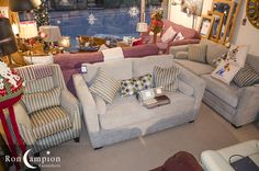 Large selection of quality lounge furniture on display in our showrooms