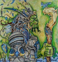 #adultcoloringbook #adultcoloring #colouring #polychromos #prismacolor #kerbyrosanes #mythomorphia #kerbyrosanesmythomorphia #orc #readyforbattle #shading #fantasy #anotherworld #hobby #enjoyable #art #fun