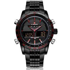 Relojes de hombre NAVIFORCE 9024 Luxury Brand completo reloj del cuarzo del acero LED Digital reloj militar del ejército Sport reloj relogio masculino en Relojes casuales de Relojes en AliExpress.com | Alibaba Group