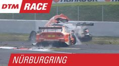 Green Spin Causes a Big Crash! - DTM Nürburgring 2015 // Jamie Green spins in a corner right after the start to race 1 at the Nürburgring, other cars crash into him.