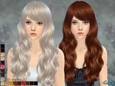 Cazy's Sorrow Hairstyle - Sims 4