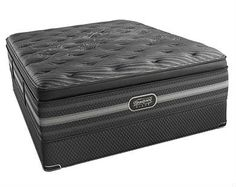 Beautyrest Black Natasha Plush Pillow Top King Mattress, by Ashley HomeStore, Black/Gray Full Mattress, Mattress Sets, Pillow Top Mattress, Queen Mattress, Reclining Sectional With Chaise, Sleeper Ottoman, Simmons Beautyrest, Dining Chairs, Shopping