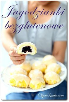 Jagodzianki bezglutenowe Gluten Free Bakery, Gluten Free Cookies, Foods With Gluten, Dairy Free, Blueberry, Paleo, Sweets, Bread, Healthy Recipes
