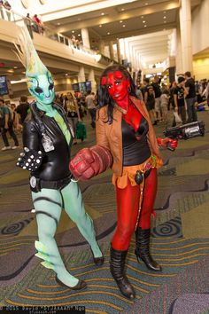 Abe Sapien and Hellgirl #Rule63 #cosplay