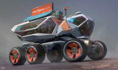 Arnaud caubel space concept art в 2019 г. Rescue Vehicles, Army Vehicles, Atv Car, Monster Trucks, Expedition Vehicle, Truck Design, Futuristic Design, Science Fiction Art, Trucks