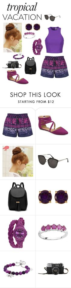 """""""Tropical vacation"""" by mayraflores534 ❤ liked on Polyvore featuring Band of Gypsies, Pin Show, Topshop, Carolee, TKO Orlogi, Love This Life and TropicalVacation"""