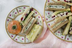 Four traditional afternoon tea sandwiches