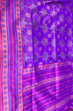 Purple Handloom Banarasi Katan Silk Saree