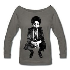 Nina Simone Off Shoulder T-shirt - Dark Gray Off Shoulder T Shirt, Natural Accessories, Clothing Company, Cool T Shirts, Natural Hair Styles, Graphic Sweatshirt, Clothes For Women, Trending Outfits, Tees