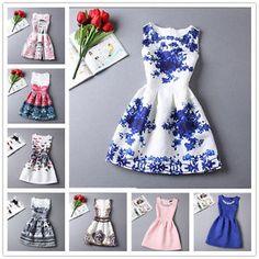 New-Design-Summer-Womens-TuTu-Dress-Vintage-Digital-Evening-Party-Print-Dresses