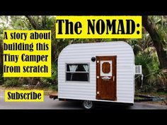 Make Your Own Tiny Camper From Scratch Small Camping Trailer, Small Camper Trailers, Teardrop Camper Trailer, Truck Bed Camping, Small Campers, Airstream Trailers, Rv Campers, Build A Camper, Diy Camper