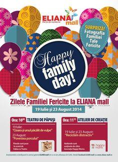 HAPPY FAMILY DAY la ELIANA mall Family Day, Happy Family, Mall, Chart