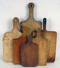 I can't help it - I just like them!  Cutting Boards that have a history - beautiful.  I have a similar collection of rolling pins