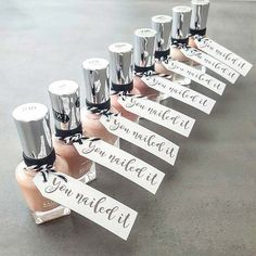 Nail Varnish Prize Idea for Bridal Shower