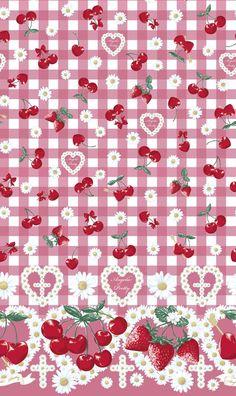 Princesses at heart. Kawaii Wallpaper, Wallpaper Iphone Cute, Love Wallpaper, Aesthetic Iphone Wallpaper, Pattern Wallpaper, Cute Wallpapers, Cute Backgrounds, Wallpaper Backgrounds, Strawberry Background