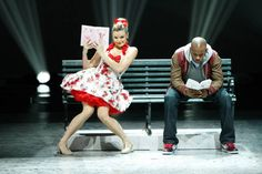 """Top 20 contestants Janaya French and Brandon Mitchell perform a Broadway routine to """"Bring On The Men"""" choreographed by Sean Cheesman on SO YOU THINK YOU CAN DANCE."""