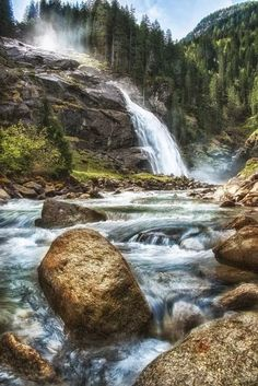 The Krimml Waterfalls, Stadt Salzburg, Austria Top 10 Most Incredible Waterfalls in the World Oh The Places You'll Go, Places To Travel, Places To Visit, Beautiful Waterfalls, Beautiful Landscapes, Beautiful World, Beautiful Places, Hallstatt, Les Cascades