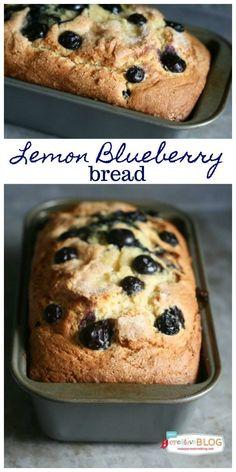 Blueberry Lemon Bread with Lemon Glaze Delicious and zesty Lemon Blueberry Bread with Lemon Glaze quick bread recipe. Brunch Recipes, Breakfast Recipes, Dessert Recipes, Fruit Recipes, Drink Recipes, Breakfast Ideas, Yummy Recipes, Recipies, Quick Bread Recipes