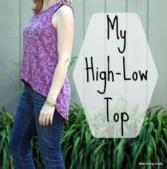 Beth Being Crafty: High-Low tank, pattern drafted from a t-shirt