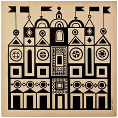 midcenturia: Alexander Girard Palace print for Herman Miller, 1971