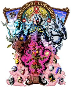 We're Not Alone - We Are All One, The Legend of Zelda Majora's Mask fan art tattoo design, by Purrdemonium - Tattoo version at http://www.pinterest.com/pin/52917364345919268/
