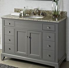 Fairmont Designs Smithfield Medium Gray Bathroom Vanity 42 X X