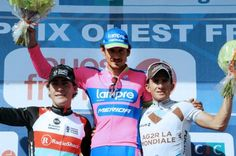 The podium at GP Ouest France - Plouay 2013
