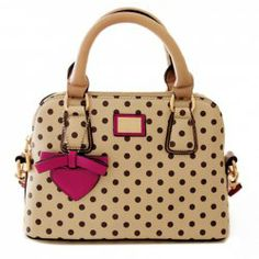 $23.40 Sweet Women's Tote Bag With Bow and Dots Design